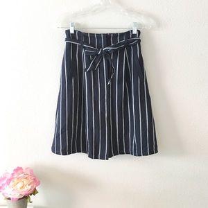 Ann Taylor striped button tie skirt size 2P